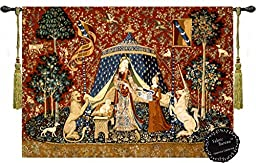 Desire-the Lady and the Unicorn Medieval Jacquard Woven 47\