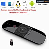 57B Remote Control with Keyboard 2.4Ghz Wireless Motion Smart TV Remote Controller Android TV Box Mini Keyboard for Android TV Boxes, PCs, Laptops, Projectors and Smart TVs (Color: 57B)