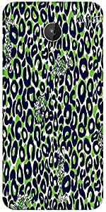 Snoogg Leopard Print Designer Protective Back Case Cover For Micromax Canvas Spark Q380