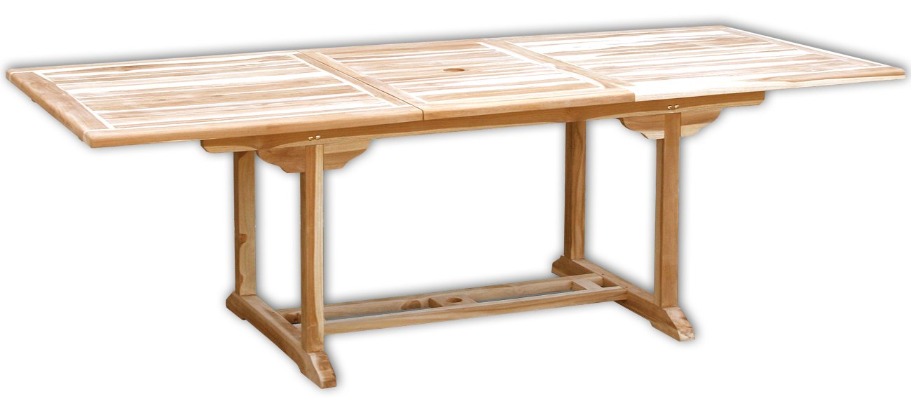 KMH®, Ausziehbarer Gartentisch – ECHT TEAK! (170 – 230 x 100 cm / rechteckig) (#102110) jetzt kaufen