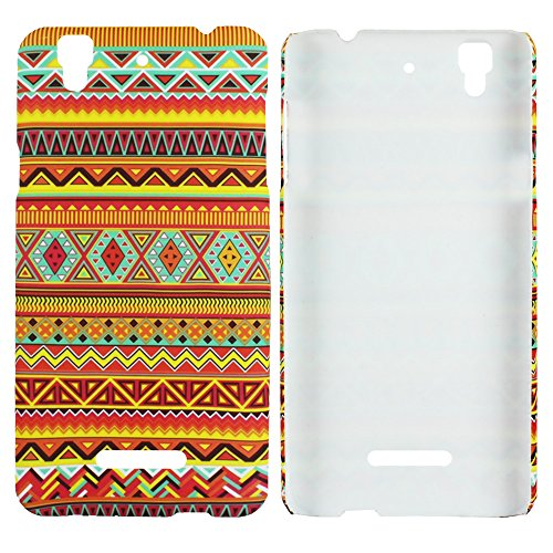 Heartly Aztec Tribal Art Printed Design Retro Color Armor Hard Bumper Back Case Cover For Micromax Yu Yureka Plus Cyanogenmod - Vintage Orange