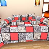 Bharti Home Fab Cotton Diwan Set (Pack of 8)- 90 inches x 60 inches