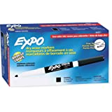 EXPO 86001 Low Odor Dry Erase Marker, Fine Point, Black (Pack of 12) (Color: Black, Tamaño: 12-Count)