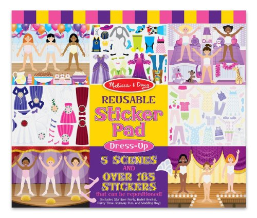 Melissa & Doug Dress-Up Reusable Sticker Pad - 1