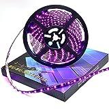 ぶーぶーマテリアル ピンク 300連 高輝度 LED テープ 5m  紫 パープル 12V 黒ベース 防水 イルミネーション 電装品 【カーパーツ】