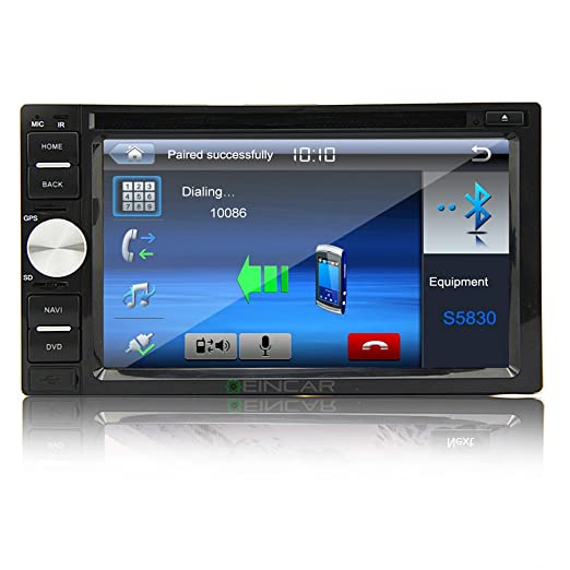 Pantalla tš¢ctil en el tablero dos CD Din de cable por 7 pulgadas motorizada LCD TouchscreenCar DVD AUX jugador Bluetooth FM Radio AM RDS para volante LCD Radio Bluetooth surveiller del coche Autoradio USB / SD