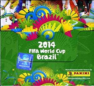 2014 Panini Adrenalyn XL World Cup Brazil Factory Sealed HUGE Booster Box with 50 Foil Packs and A Total of 300 Brand New Cards !