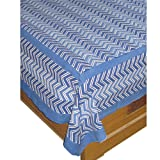 Blue Bed Sheet India Famous Handmade Katha Print Queen Sizeby DakshCraft