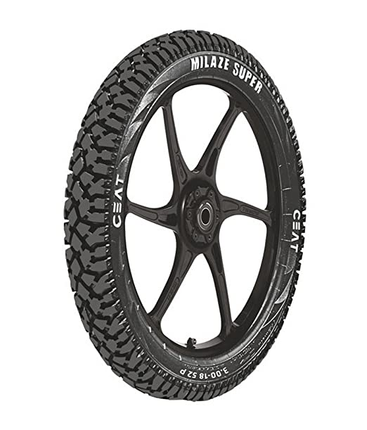 Ceat Milaze Super P3.00 - 18 Tube-Type Bike Tyre, Rear (Home Delivery)