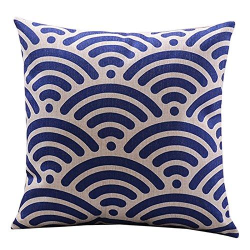 "Embrace Cotton Linen Decorative Throw Pillow Case Cushion Cover Basketweave Pattern Square 18"""