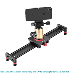 Neewer Camera Slider Aluminum Alloy Dolly Rail,16 inches/40 Centimeters with 4 Bearings for Smartphone Nikon Canon Sony Camera, Load up to 12 pounds/ 5.44 kilograms (Tamaño: 40cm)