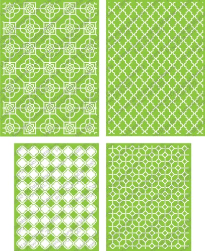 Cuttlebug Cricut 4-Piece Decorative Tile Set