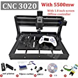 CNC 3020 Engraver Machine GRBL Control Offline Desktop Milling Router DIY Plastic Acrylic Wood Carving Milling Tools (Color: With Offline, Tamaño: 30X20CM)