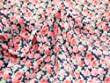 "45"" wide Polycotton Dress Fabric Navy/Pink Floral Print - per metre"