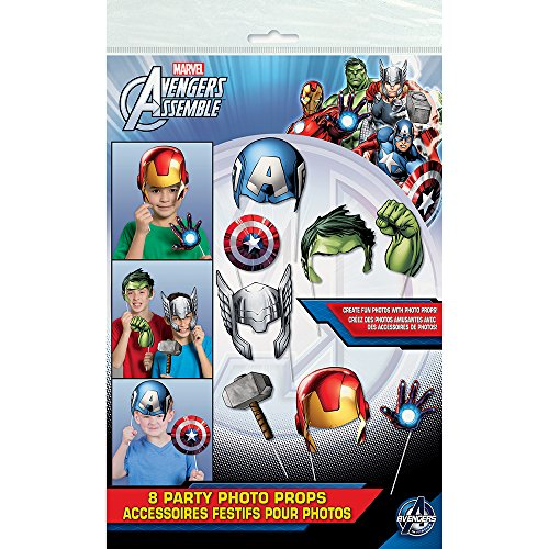 Marvel Avengers Photo Booth Props, 8ct (Avenger Pictures compare prices)