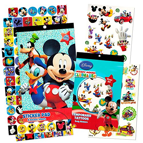 Mickey Mouse Stickers & Tattoos Party Favor Pack (200 Stickers & 50 Temporary Tattoos) - 1