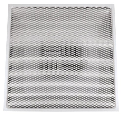 Speedi-Grille TB-PAB 12 24-Inch by 24-Inch White Drop Ceiling T-Bar Perforated Face Air Vent Register with a 12-Inch Collar