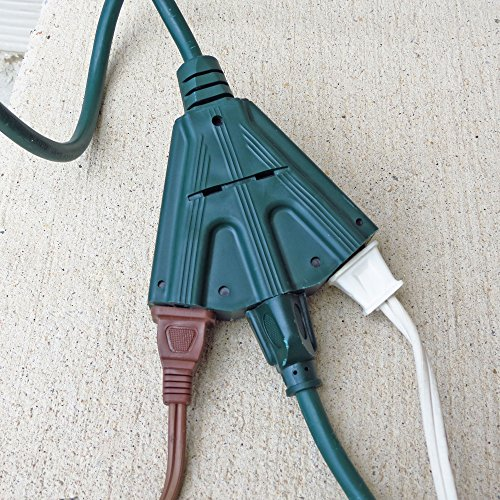10 ft outdoor extension cord with power block 16 3 heavy duty green cable hardware electrical. Black Bedroom Furniture Sets. Home Design Ideas