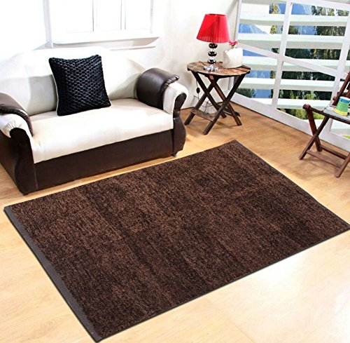 Yellow Weaves Coffee Carpet - 3 X 5 Ft