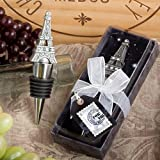 <em>From Paris with Love Collection</em> Eiffel Tower wine bottle stopper favors, 1