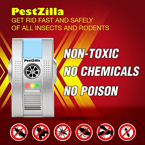 PestZilla Electronic Pest Control Repeller   Get Rid Fast And Safely Of All  Insects And Rodents Home Garden Household Supplies Traps