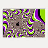 Hawtskin Multi Color Trippy Colourful Pattern 300 GSM 18x24 Inch Jumbo Poster