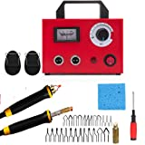 Byforphye 110V 100W Multifunction Pyrography Machine Wood Crafts Burning Kit Temperature Adjustable Wood-Burner Tool Kit for for Wood/Leather/Gourd/Bamboo