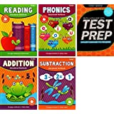 First Grade Reading, Phonics, Addition, Subtraction And Common Core Test Prep Workbooks (5 Piece Bundle)