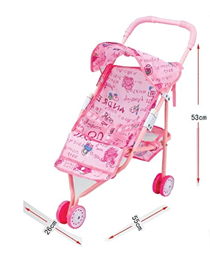 My 1st Pink Doll's Push Chair - 3 Wheel Stroller