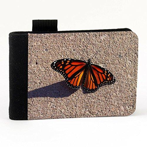 Farfalle 10008, Farfalla, Nero Polyester Piccolo Cartella Congressi block notes Tasca Taccuino con Fronte di Sublimazione e alta qualità Design Colorato.Dimensioni A7-131x93mm.