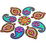 Decoration Craft Acrylic Rangoli - (28 Cm X 28 Cm) - B018FZP0B0