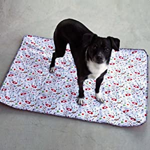 Washable Housebreaking Pad by PiddleWeePads. Reusable, Fabric pattern will vary from picture (Large)