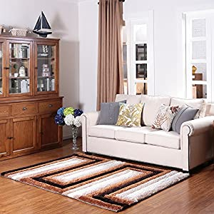 Ustide contemporary high pile polyster area for Durable carpet for family room