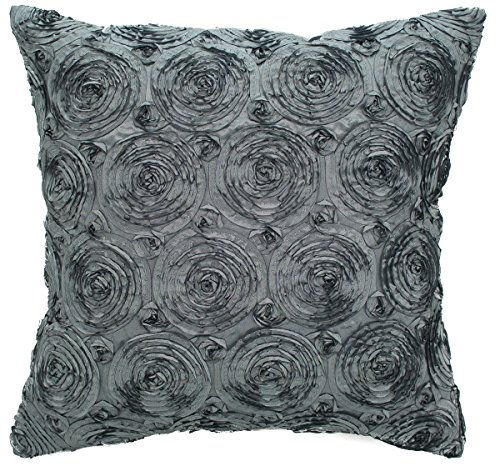 Avarada Solid Floral Bouquet Throw Pillow Cover Decorative Sofa Couch Cushion Cover Zippered ...