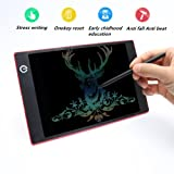 LCD Writing Tablet Colorful Screen Display 9.7-inch , YODAY-LCD Drawing Board/ Message Board/ Screen Handwriting Pad Paperless Drawing Writing Tool Graffiti Board with Family Memo, Office Writing (Color: red)