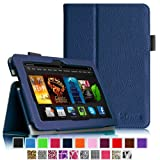 """Fintie Amazon Kindle Fire HDX 7 Folio Case Cover - Auto Sleep/Wake (will only fit Kindle Fire HDX 7"""" 2013), Navy"""
