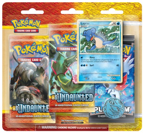 Pokémon Trading Card Game HeartGold & SoulSilver Undaunted Three Pack Blister