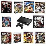 【中古セット】PlayStation 3 250GB チャコール・ブラック (CECH-4000B) + ソフト10点