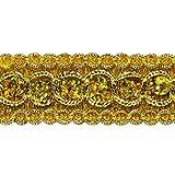 Expo International Trish Sequin Metallic Braid Trim, 20 yd, Gold