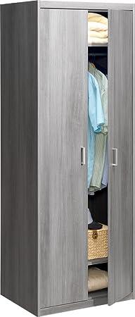 CS Schmalmöbel 74/79 Kleiderschrank 79 Soft Plus Silbereiche (72x194x54)