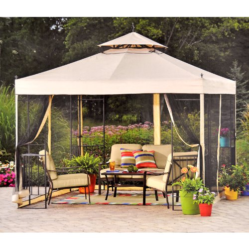 Replacement Canopy For Backyard Creations Gazebo :  Gazebo Replacement Canopy  RipLock 350  Gazebos  Outdoor Decor