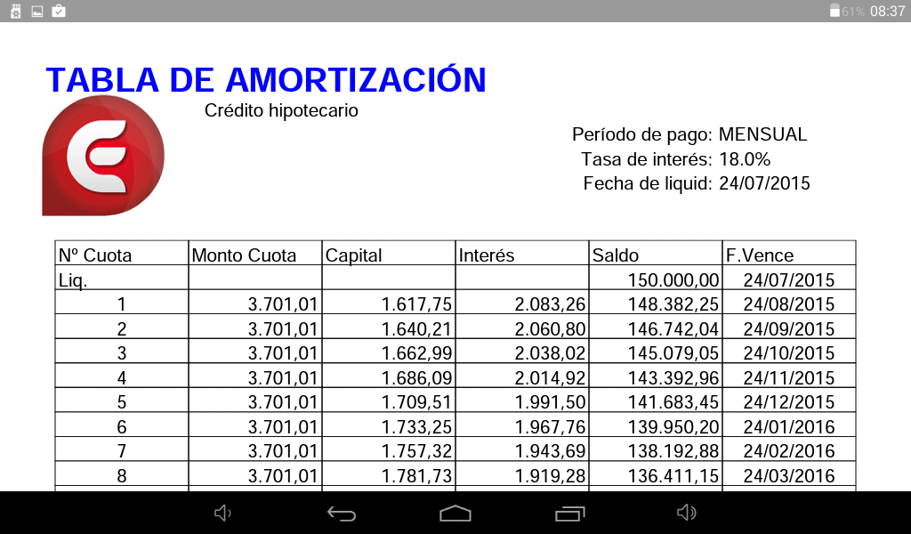 Amazon.com: Amortization Schedule: Appstore for Android