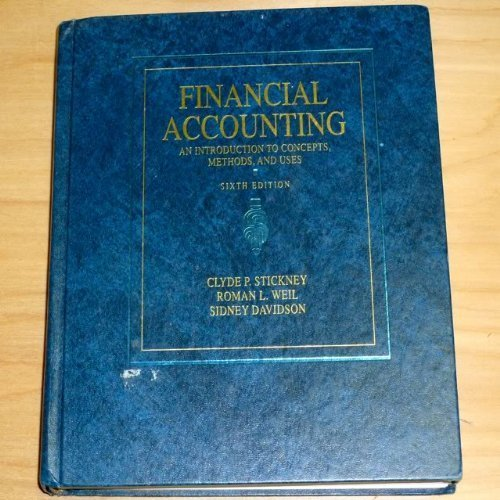 Financial Accounting: An Introduction to Concepts, Methods and Uses (The HBJ accounting series)
