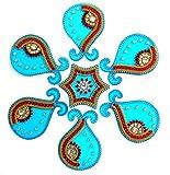 Handicraft Designer Rangoli (14 inch diameter, Acrylic, 7 piece set)