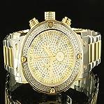 Elegant Men Aqua Master Father Day Golden Silver 3 Dial Jojo Diamond Watch Sale