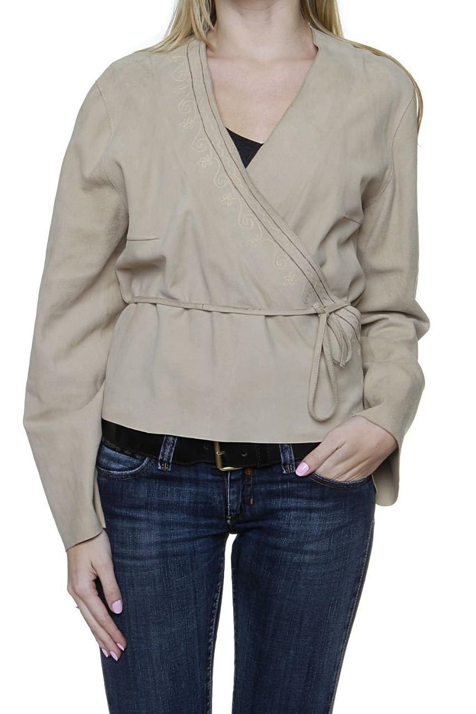 Cristiano di Thiene Basic Line Damen Jacke Blouson Lederjacke , Farbe: Beige jetzt bestellen