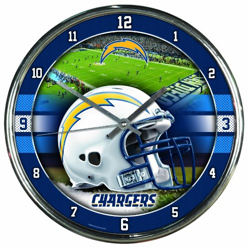 NFL San Diego Chargers Chrome Clock