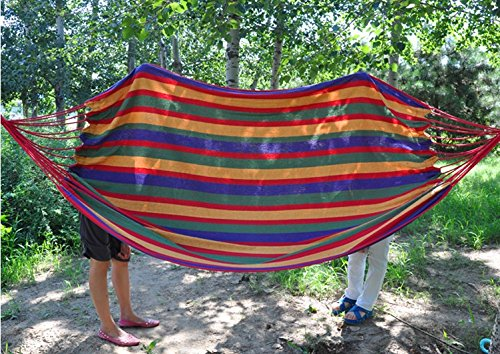 (280*150cm) Double Cotton Hammock Tourism Camping Hunting Leisure Fabric Stripes Outdoor Hammocks (Rede De Dormir)