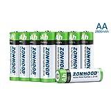 AA Rechargeable Batteries, AA Batteries 2800mAh High-Capacity AA Batteries Rechargeable AABatteries 1.2V Ni-MH Low Self Discharge (8pack) (Tamaño: 8pack)