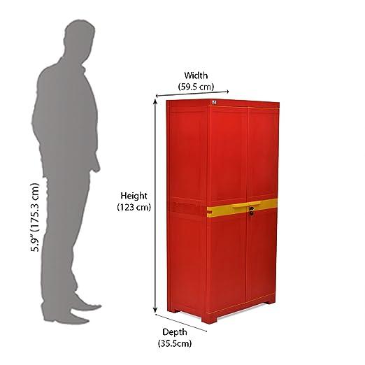 Nilkamal Freedom FMM Mini Medium Storage Cabinet (Red and Yellow ...